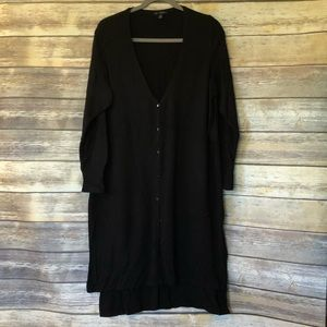 H by Halston Black long cardigan sweater 2XP